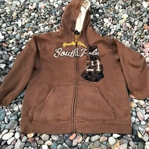 South pole brown zippered hoodie